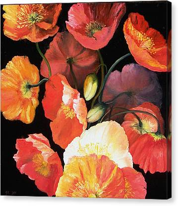 Bunch Of Poppies Canvas Print by Jan Matson