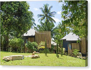 Bungalows In Tropical Resort Asia Canvas Print by Jacek Malipan