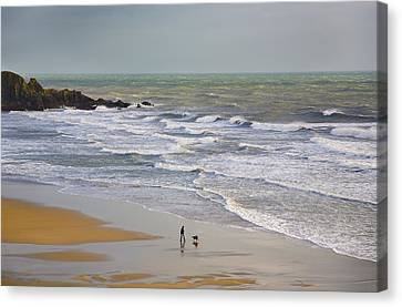 Bunmahon Strand, The Copper Coast Canvas Print by Panoramic Images