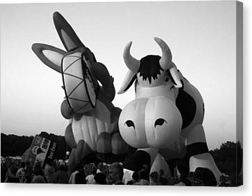 Bunny And Cow In Infra Red Canvas Print