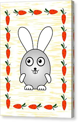 Bunny - Animals - Art For Kids Canvas Print