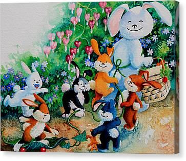 Bunny Giggles Canvas Print