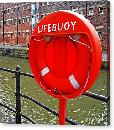 Buoy Foam Lifesaving Ring Canvas Print by Luis Alvarenga
