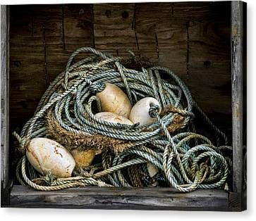 Buoys In A Box Canvas Print by Carol Leigh