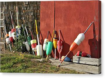 Canvas Print featuring the photograph Buoys by Jean Goodwin Brooks