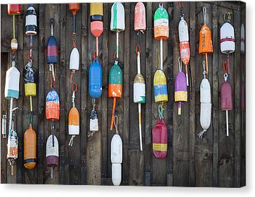 Buoys On The Shed II Canvas Print