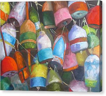 Buoys Canvas Print by Susan Richardson