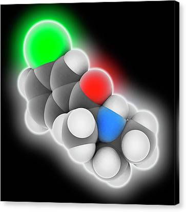 Bupropion Drug Molecule Canvas Print by Laguna Design
