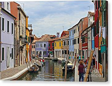 Canvas Print featuring the photograph Burano Island by Cendrine Marrouat