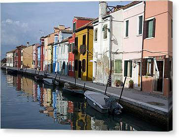 Canvas Print featuring the photograph Burano Italy by John Jacquemain