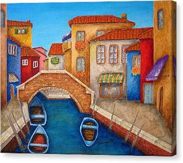 Burano Canvas Print by Pamela Allegretto
