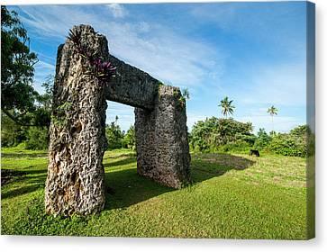 Tonga Canvas Print - Burden Of Maui, Stone Trilithon Built by Michael Runkel