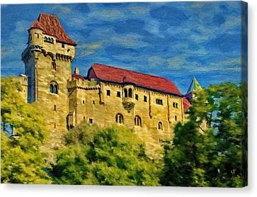Austrian Canvas Print - Burg Liechtenstein by Jeffrey Kolker
