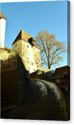 Canvas Print featuring the photograph Burgdorf Castle In December by Felicia Tica