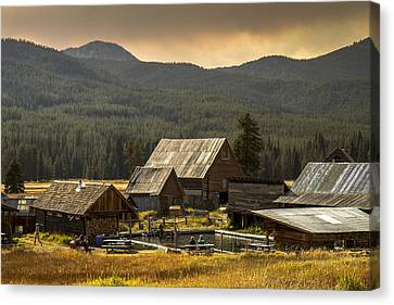Burgdorf Hot Springs In Idaho Canvas Print by For Ninety One Days
