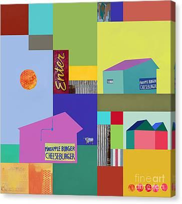 Burger Joint #3 Canvas Print by Elena Nosyreva