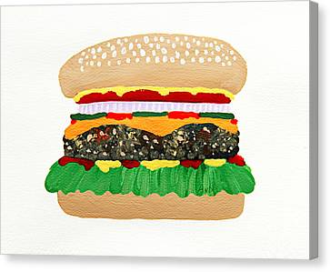 Burger Me Canvas Print by Andee Design
