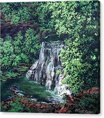 Burgess Falls State Park Tn. Canvas Print by W  Scott Fenton