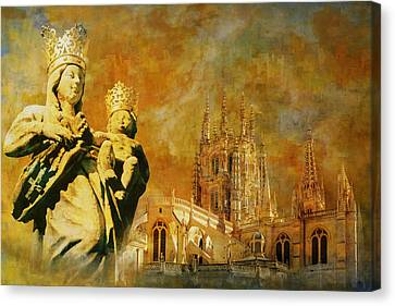 Burgos Cathedral Canvas Print by Catf