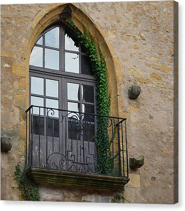 Burgundy Window Canvas Print by Cheryl Miller