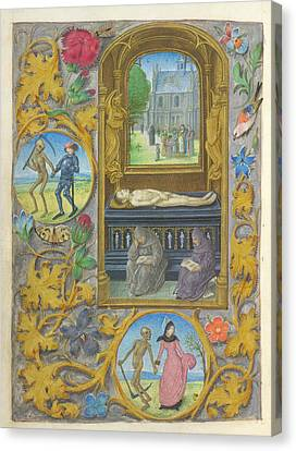 Burial Scene Canvas Print by British Library