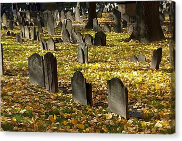 Buried In Boston Canvas Print