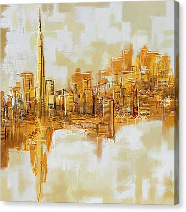 Khalifa Canvas Print - Burj Khalifa Skyline by Corporate Art Task Force