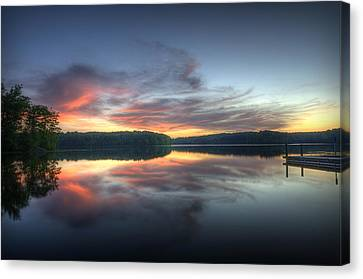 Burke Lake Reflection Canvas Print by Michael Donahue