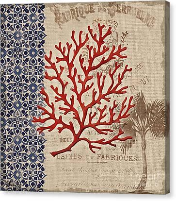 Burlap Canvas Print - Burlap Coral I by Paul Brent