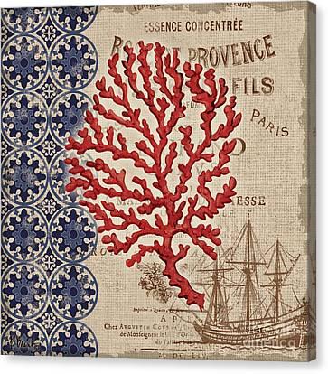 Burlap Canvas Print - Burlap Coral IIi by Paul Brent