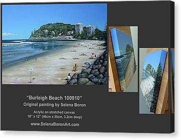 Burleigh Beach 100910 Comp Canvas Print by Selena Boron