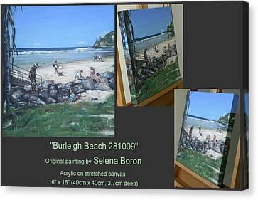 Canvas Print featuring the painting Burleigh Beach 281009 by Selena Boron