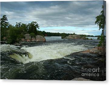 Canvas Print featuring the photograph Burleigh Falls by Barbara McMahon