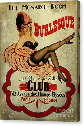 Burlesque Club Canvas Print by Cinema Photography