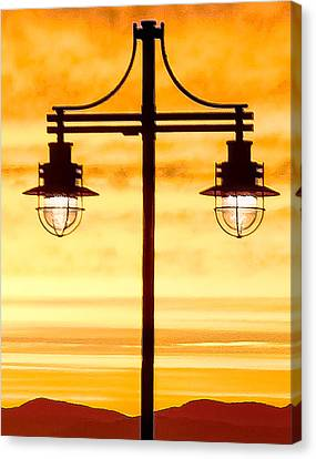 Burlington Dock Lights Canvas Print