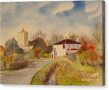 Burmarsh  Kent Uk Canvas Print by Beatrice Cloake