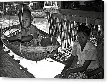 Burmese Mother And Son Canvas Print by RicardMN Photography