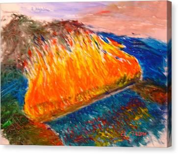 Burn The Bridges Behind You Canvas Print