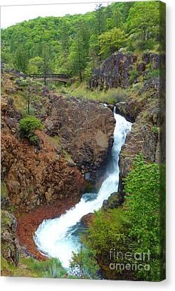 Burney Rock Creek Falls Canvas Print by Joshua Greeson