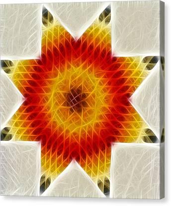 Burnign Star Canvas Print by Douglas Barnett