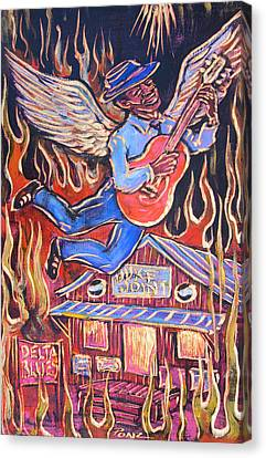 Burnin' Blue Spirit Canvas Print by Robert Ponzio