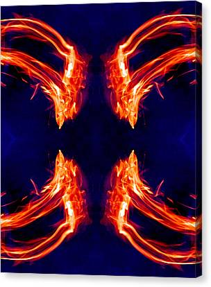 Order From Disorder Canvas Print - Burning Across Four Horizons 2013 by James Warren