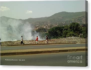 Canvas Print featuring the photograph Burning  Burning Burning  by Mudiama Kammoh