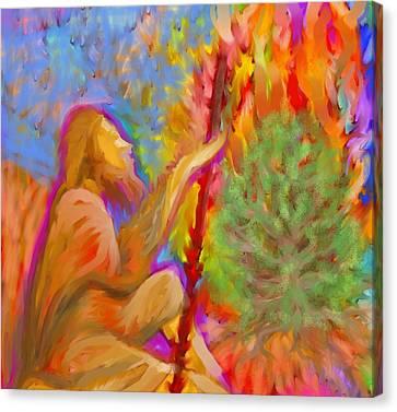 Burning Bush Of Yhwh Canvas Print