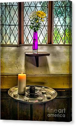 Burning Candle Canvas Print by Adrian Evans
