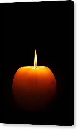 Candle Lit Canvas Print - Burning Candle by Johan Swanepoel