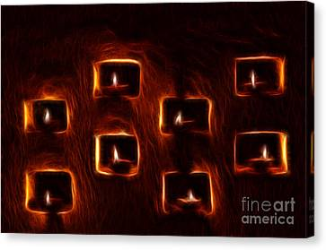 Burning Candles Fractal Art Canvas Print by Image World