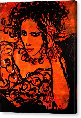 Burning Desire Canvas Print by Natalie Holland