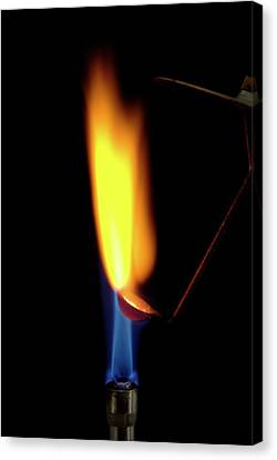 Combusting Canvas Print - Burning Lithium by Trevor Clifford Photography