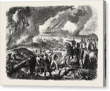 Cork Canvas Print - Burning Of Cork-tree Forests, In The District Of Jemappes by Algerian School